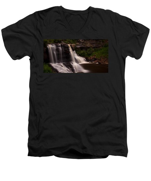 Blackwater Falls Men's V-Neck T-Shirt by Shane Holsclaw