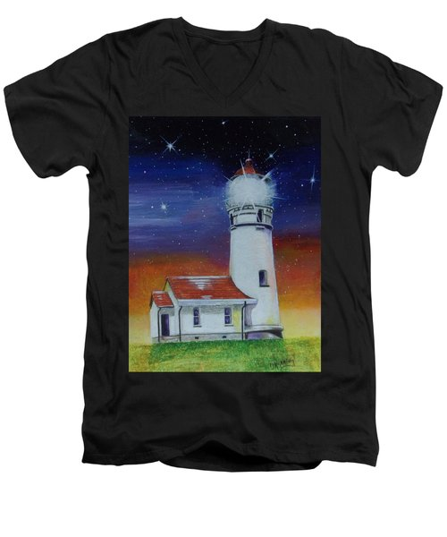 Blanco Lighthouse Men's V-Neck T-Shirt