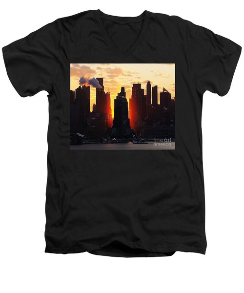 Blazing Morning Sun Men's V-Neck T-Shirt