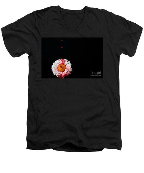 Bleeding Flower Men's V-Neck T-Shirt
