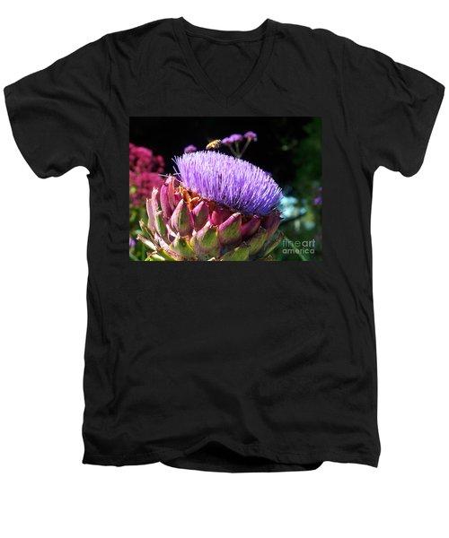 Blooming 'choke Men's V-Neck T-Shirt by Kathy McClure