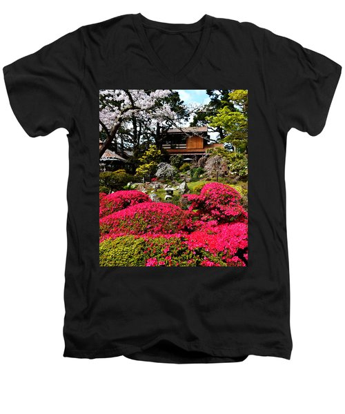 Blooming Gardens 2 Men's V-Neck T-Shirt by Holly Blunkall