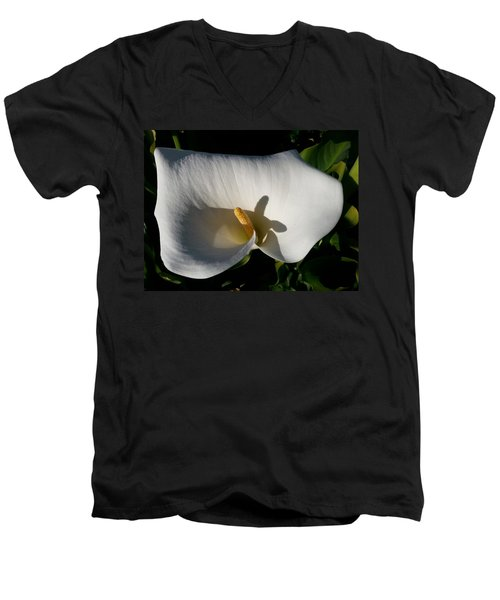 Blooming Lily Of San Francisco Men's V-Neck T-Shirt by Emmy Marie Vickers