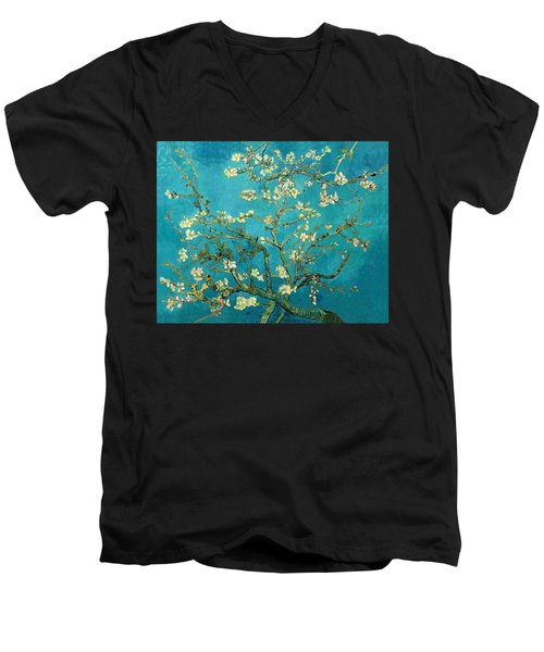 Blossoming Almond Tree Men's V-Neck T-Shirt