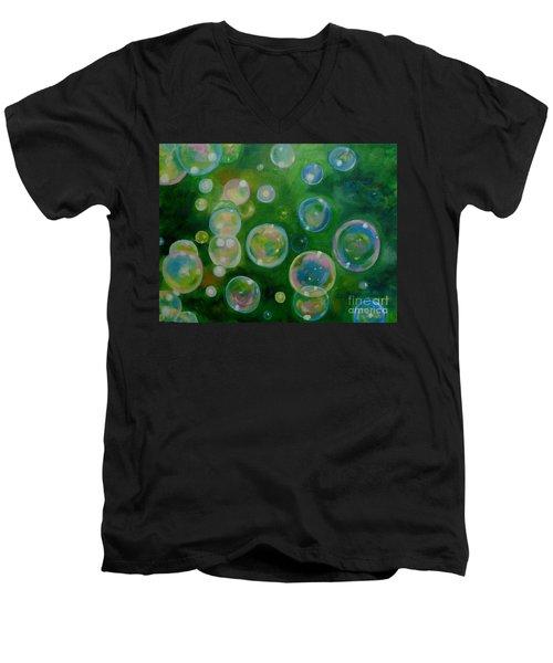 Blowing Bubbles Men's V-Neck T-Shirt
