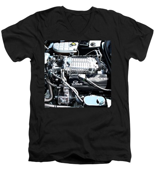 Blown 'vette Squared Men's V-Neck T-Shirt