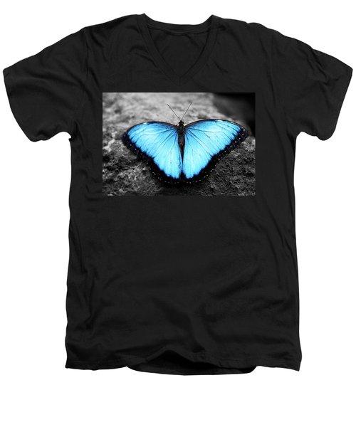 Blue Angel Butterfly 2 Men's V-Neck T-Shirt