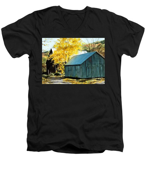 Blue Barn Men's V-Neck T-Shirt
