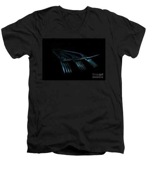 Blue Forks Men's V-Neck T-Shirt by Randi Grace Nilsberg