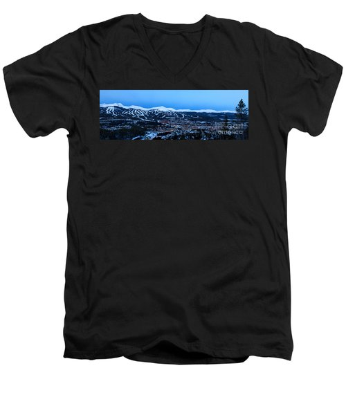 Blue Hour In Breckenridge Men's V-Neck T-Shirt by Ronda Kimbrow