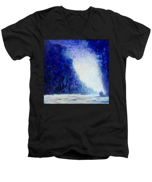 Blue Landscape - Abstract Men's V-Neck T-Shirt