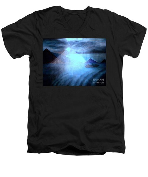 Blue Moon Sailing Men's V-Neck T-Shirt