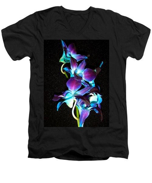 Blue Orchids Men's V-Neck T-Shirt