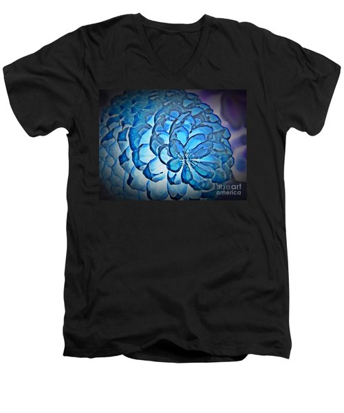 Blue Pine Cone 2 Men's V-Neck T-Shirt by Chalet Roome-Rigdon