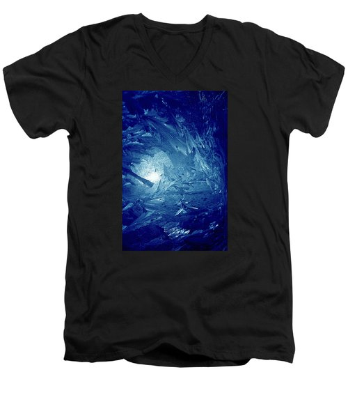 Men's V-Neck T-Shirt featuring the photograph Blue by Richard Thomas