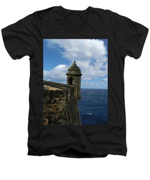 Blue Skies On The Horizon Men's V-Neck T-Shirt