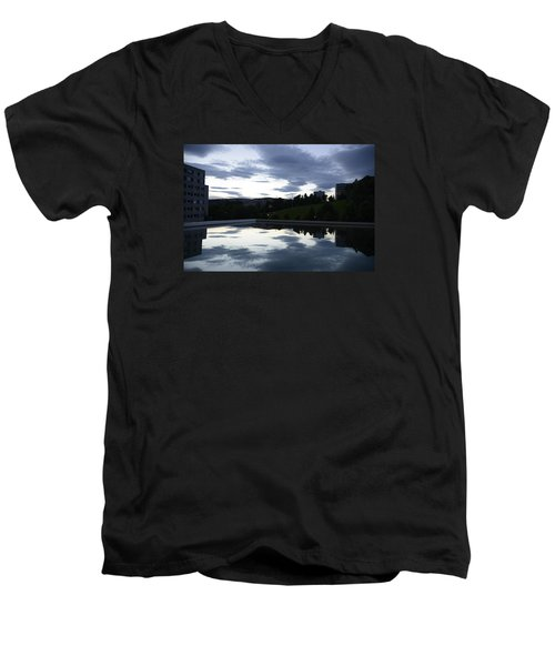 Men's V-Neck T-Shirt featuring the photograph Blue Visions 1 by Teo SITCHET-KANDA
