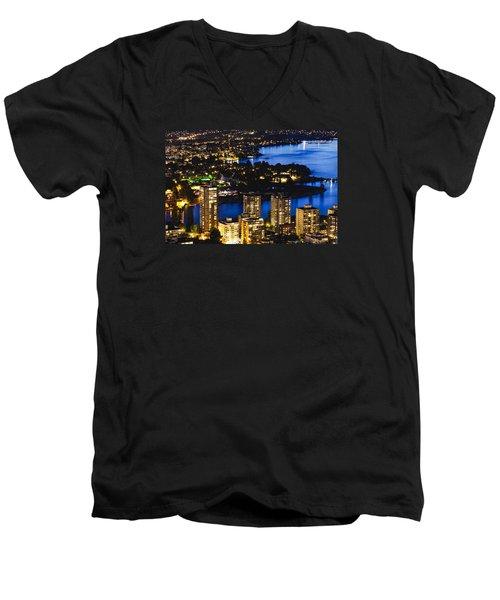 Blue Water Kitsilano Mcdix Men's V-Neck T-Shirt