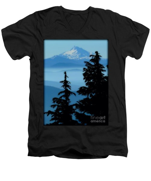 Blue Yonder Mountain Men's V-Neck T-Shirt
