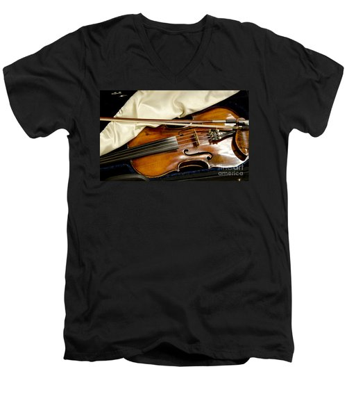 Bluegrass Magic Men's V-Neck T-Shirt by Wilma  Birdwell