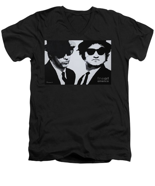 Blues Brothers Men's V-Neck T-Shirt
