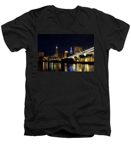 Blues In Cleveland Ohio Men's V-Neck T-Shirt