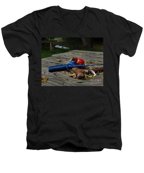Blured Memories 02 Men's V-Neck T-Shirt by Peter Piatt