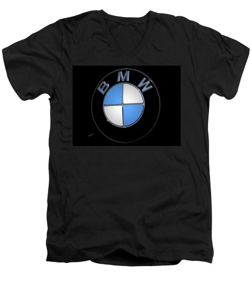 Bmw Emblem Men's V-Neck T-Shirt by DigiArt Diaries by Vicky B Fuller