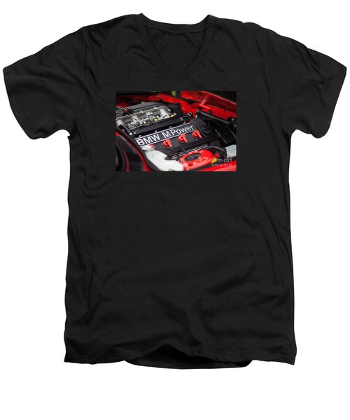 Bmw M Power Men's V-Neck T-Shirt by Mike Reid