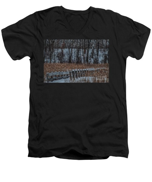 Men's V-Neck T-Shirt featuring the photograph Boardwalk Series No2 by Bianca Nadeau