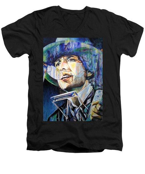 Bob Dylan Tangled Up In Blue Men's V-Neck T-Shirt