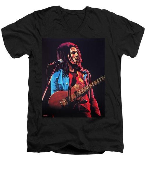 Bob Marley 2 Men's V-Neck T-Shirt