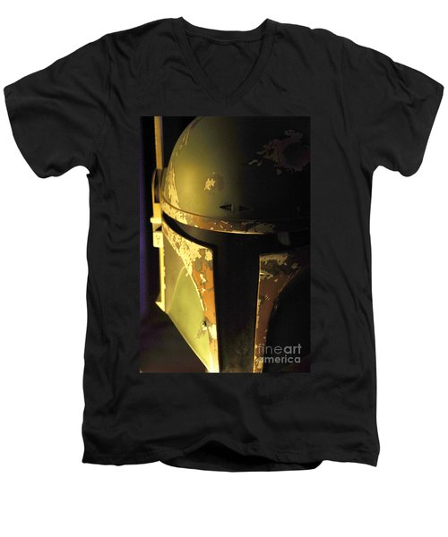 Boba Fett Helmet 124 Men's V-Neck T-Shirt by Micah May