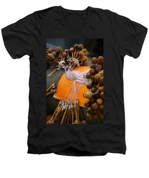 Bobbin Lace Men's V-Neck T-Shirt