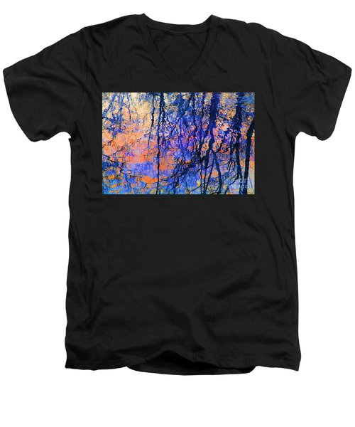 Bold Tree Reflections Men's V-Neck T-Shirt