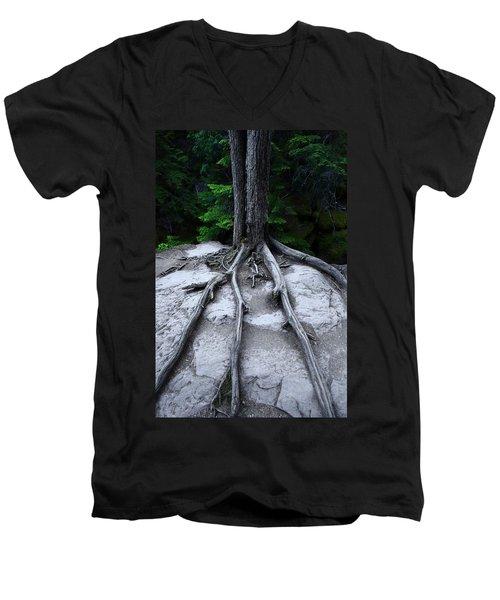 Men's V-Neck T-Shirt featuring the photograph Bones by David Andersen