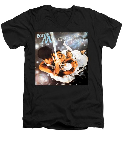 Boney M Night Flight To Venus Men's V-Neck T-Shirt