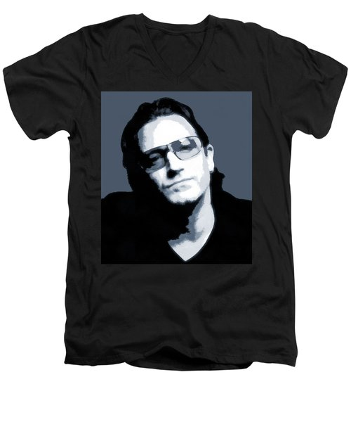 Bono Men's V-Neck T-Shirt by Dan Sproul