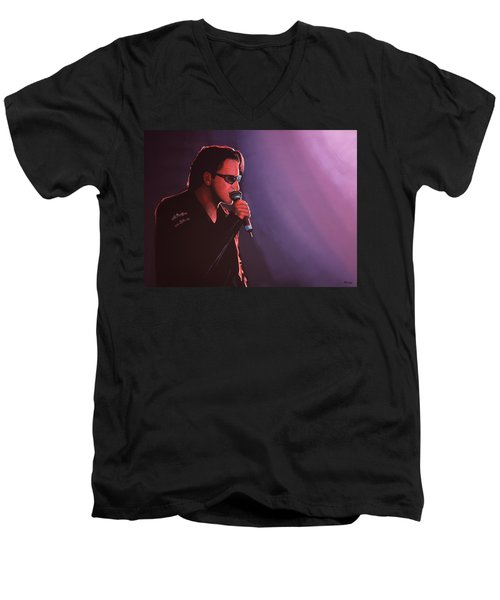 Bono U2 Men's V-Neck T-Shirt by Paul Meijering