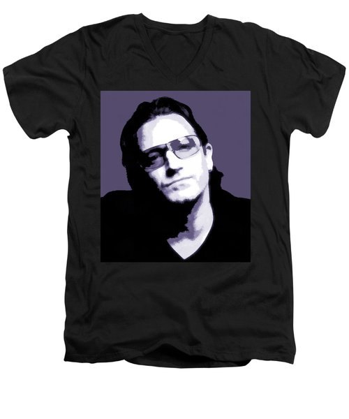 Bono Portrait Men's V-Neck T-Shirt by Dan Sproul