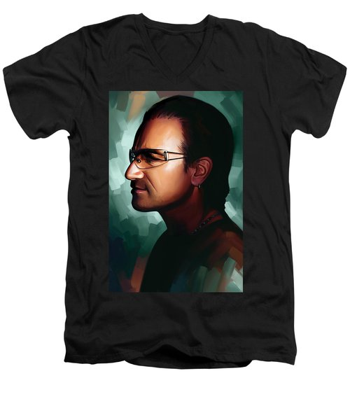 Bono U2 Artwork 1 Men's V-Neck T-Shirt