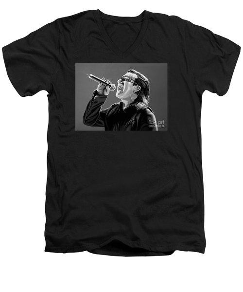 Bono U2 Men's V-Neck T-Shirt by Meijering Manupix