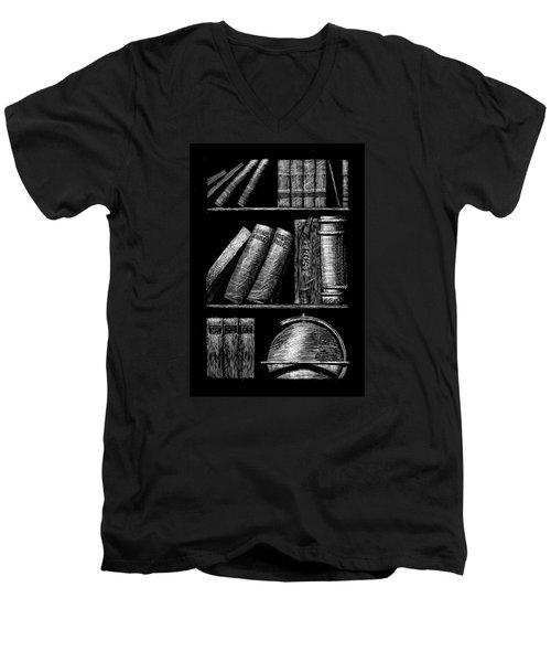 Books On Shelves Men's V-Neck T-Shirt