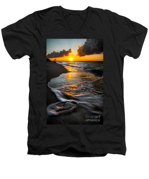 Boracay Sunset Men's V-Neck T-Shirt by Adrian Evans