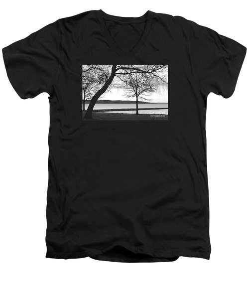 Borrestranda Men's V-Neck T-Shirt by Randi Grace Nilsberg
