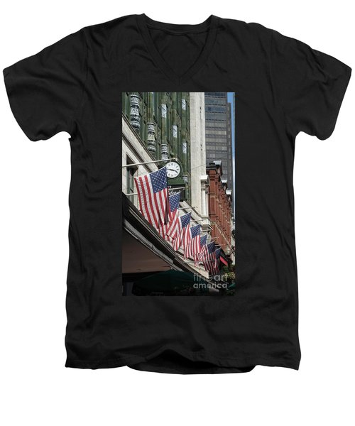 Boston 4th Of July Men's V-Neck T-Shirt