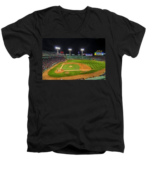 Boston Red Sox And New York Yankees At Fenway Park - Art Men's V-Neck T-Shirt