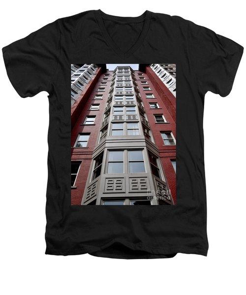 Boston Skyscraper Men's V-Neck T-Shirt