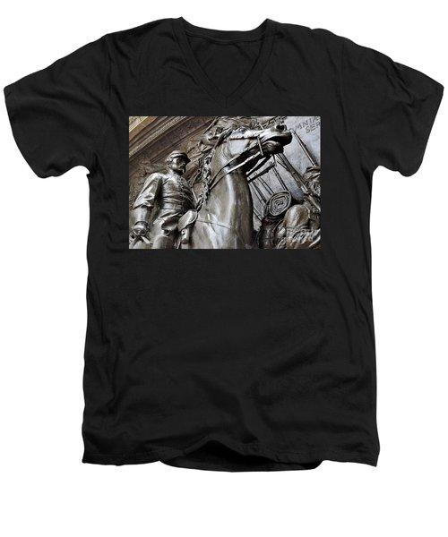 Robert Gould Shaw Memorial Men's V-Neck T-Shirt