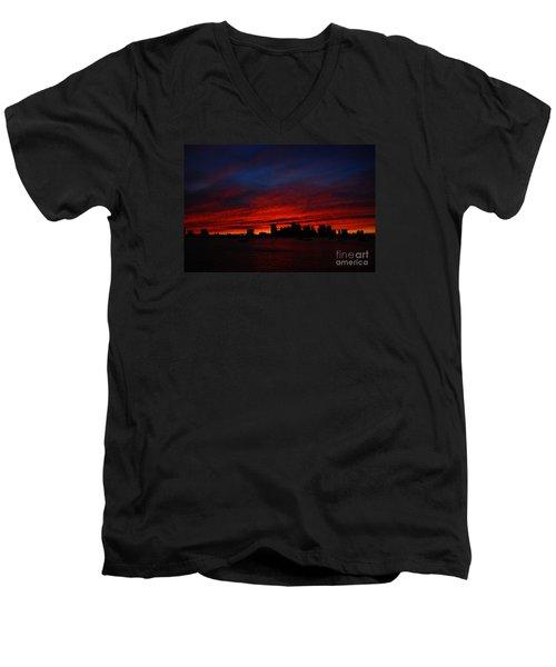 Boston Twilight Men's V-Neck T-Shirt
